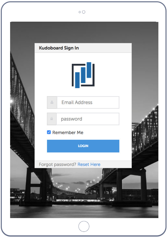 View of a Kudoboard Landing page that can be customized